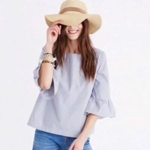 Madewell Striped Bell Sleeve Blouse